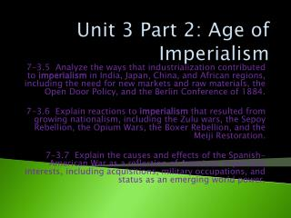 Unit 3 Part 2: Age of Imperialism