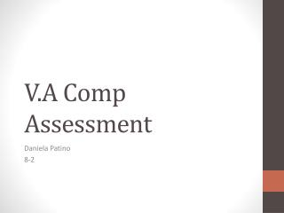 V.A Comp Assessment