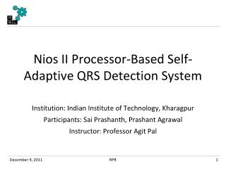 Nios  II Processor-Based Self-Adaptive QRS Detection System