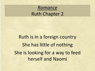 Romance Ruth Chapter 2