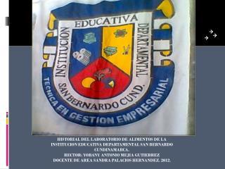 EL LABORATORIO  DE ALIMENTOS EMPEZÓ A FUNCIONAR DESDE EL AÑO 1997