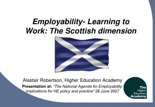 Employability- Learning to Work: The Scottish dimension