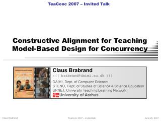 Constructive Alignment for Teaching  Model-Based Design for Concurrency