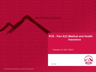 PCE - Part A(2) Medical and Health Insurance