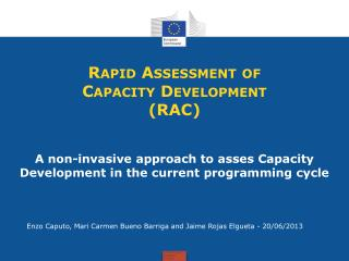 Rapid Assessment of Capacity Development (RAC)