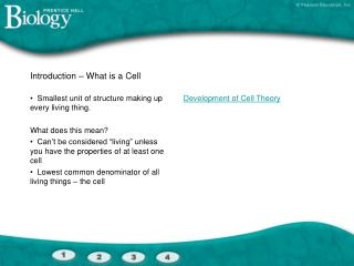 Introduction – What is a Cell