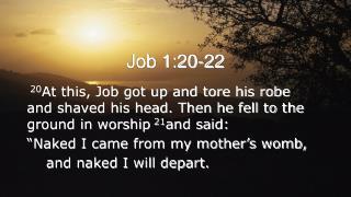 Job 1:20-22