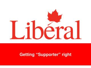"""Getting """"Supporter"""" right"""