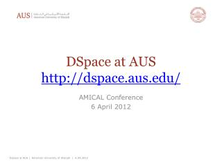 DSpace  at AUS dspace.aus/