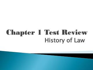Chapter 1 Test Review