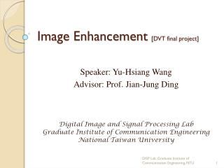 Image Enhancement  [DVT final project]
