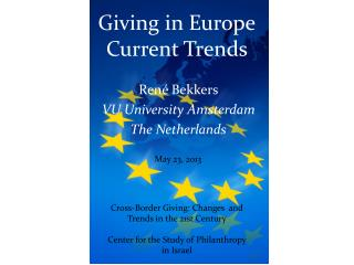 Giving  in  Europe Current  Trends