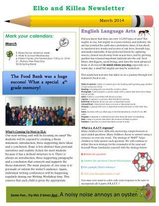Elko and Killea Newsletter