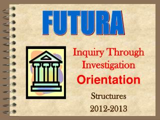 Inquiry Through Investigation Orientation Structures 2012-2013