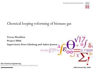 Chemical looping reforming of biomass gas