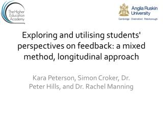 Exploring and utilising students' perspectives on feedback: a mixed method, longitudinal approach