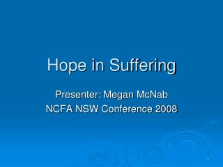 Hope in Suffering