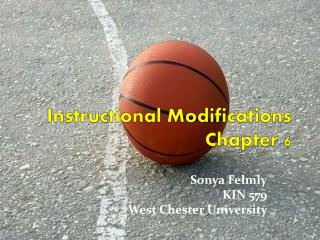 Instructional Modifications Chapter 6
