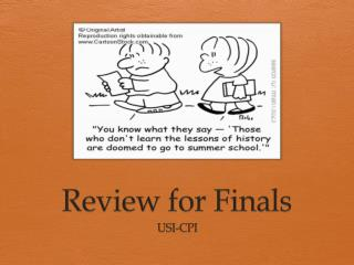 Review for Finals