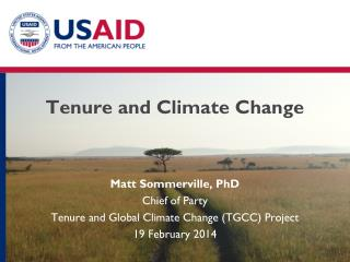 Tenure and Climate Change