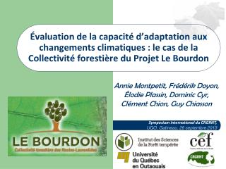 Symposium international du CRGRNT,    UQO, Gatineau, 26 septembre 2013