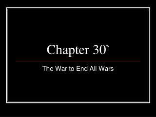 Chapter 30`