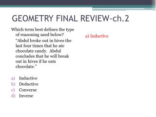 GEOMETRY FINAL REVIEW-ch.2