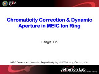 Chromaticity  Correction & Dynamic Aperture in  MEIC Ion  Ring