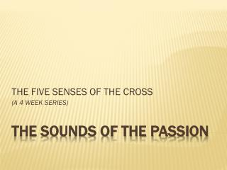THE SOUNDS OF THE  Passion