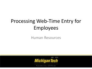 Processing Web-Time Entry for Employees
