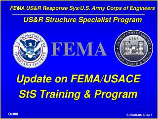 Update on FEMA/USACE StS Training & Program