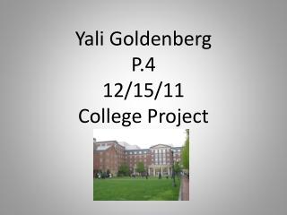 Yali Goldenberg Period 4 J&W