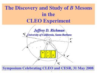 The Discovery and Study of  B  Mesons in the   CLEO Experiment