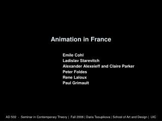 Animation in France