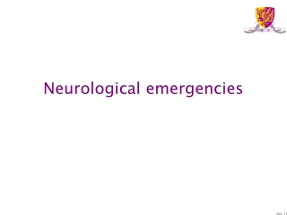 Neurological Emergencies