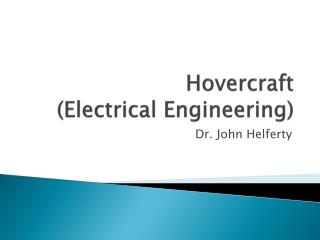Hovercraft  (Electrical Engineering)