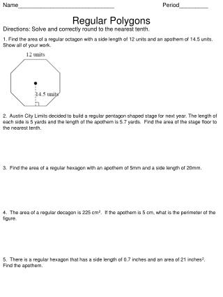 Name______________________________  Period_________ Regular Polygons