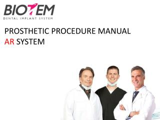 PROSTHETIC PROCEDURE MANUAL AR  SYSTEM