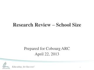 Research Review – School Size
