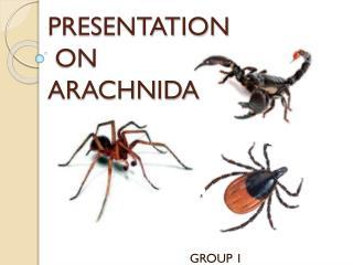 PRESENTATION  ON  ARACHNIDA