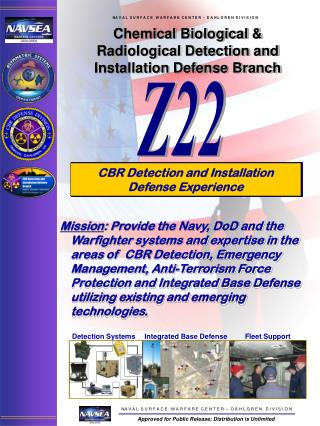 Chemical Biological &  Radiological Detection and Installation Defense Branch