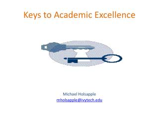 Keys to Academic Excellence