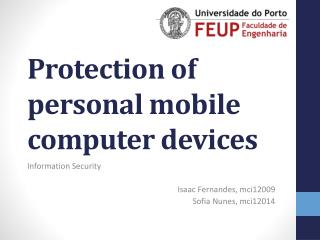 Protection of personal mobile computer devices
