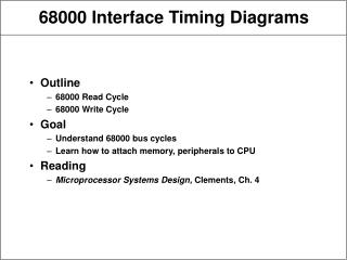 68000 Interface Timing Diagrams