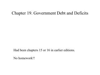 Chapter 19. Government Debt and Deficits