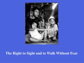 The Right to Sight and to Walk Without Fear