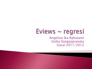 Eviews ~ regresi