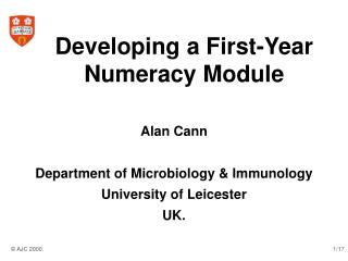 Developing a First-Year Numeracy Module