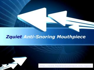 Buy ZQuiet - FDA Cleared Anti-Snoring Device
