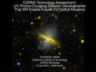COPAG Technology Assessment: UV  Photon-Counting Detector Developments